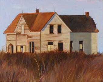 Empty Beach House Oil Painting