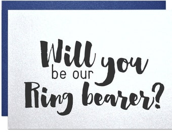 Will you be my ring bearer card groomsman gift best man wedding invitation engagement party