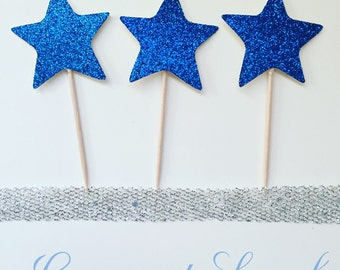 Sparkly Stars, (cupcake toppers).