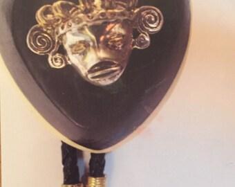 Inca Mask Bolo Tie