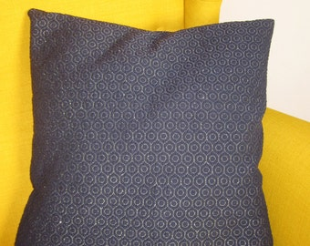 Cushion Cover in Navy and Gold