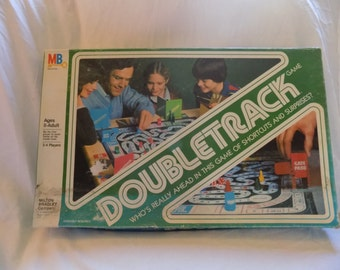 REDUCED PRICE!! 1981 Milton Bradley Double Track Board Game