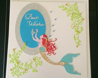 Handmade Mermaid Greetings Card