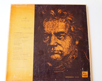 Vintage Original Classical Records from the USSR, Ludwig van Beethoven: Symphony No 9 and Sonata No. 6 - Made in USSR