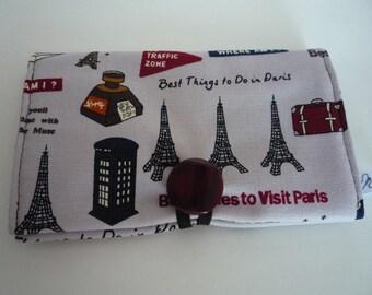 PASSPORT CASE/Passport holder/Protect passport/Paris/Mauve/Brown
