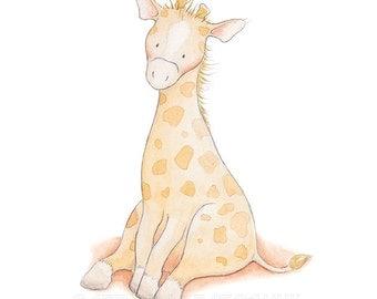 Giraffe Nursery Wall Art,Giraffe Nursery Print,Giraffe Nursery Decor,Giraffe Kids Art,Giraffe baby Art,Cute Giraffe,Giraffe children's Art