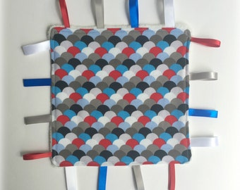 Handmade Taggy Blanket - Baby Boy Taggies/Tag/Taggie Comfort/Security Blanket