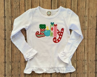 Jolly Applique Christmas Shirt