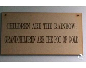 Laser cut wooden sign