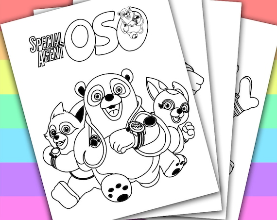 Special Agent Oso Animation Movies 4 Coloring By PetiteMonkey