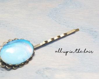 Opalite Bobby Pin - Gemstone Bobby Pin - Gemstone Hair Pin - Gemstone Hair Clip - Opalite Hair Pin