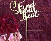 Find Your Seat Sign - Laser Cut Find Your Seat Table Sign - Wedding Signage.