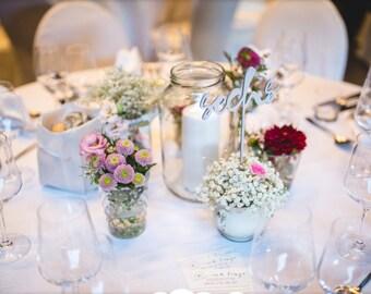 Wedding Table Numbers In German Decor Set Of 1 16