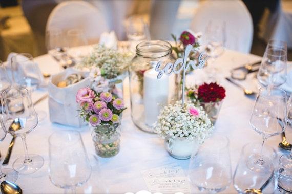 German Wedding Gifts: Wedding Table Numbers In German Wedding Decor In German Set