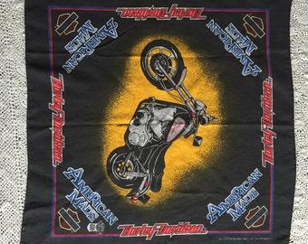 Vintage Harley Davidson Motorcycle Bandana