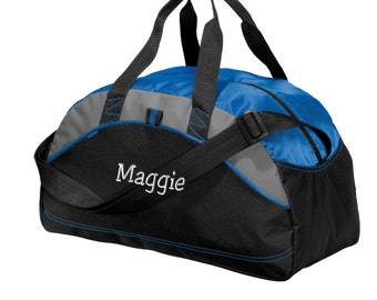 Monogrammed Improved Medium Contrast Personalized Duffel Bag. Embroidered  Duffle Bag. Monogram Duffle Bag. Personalized Gym Bag. SM-BG1070