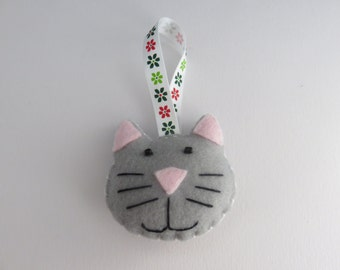 Handmade Felt Cat Decoration