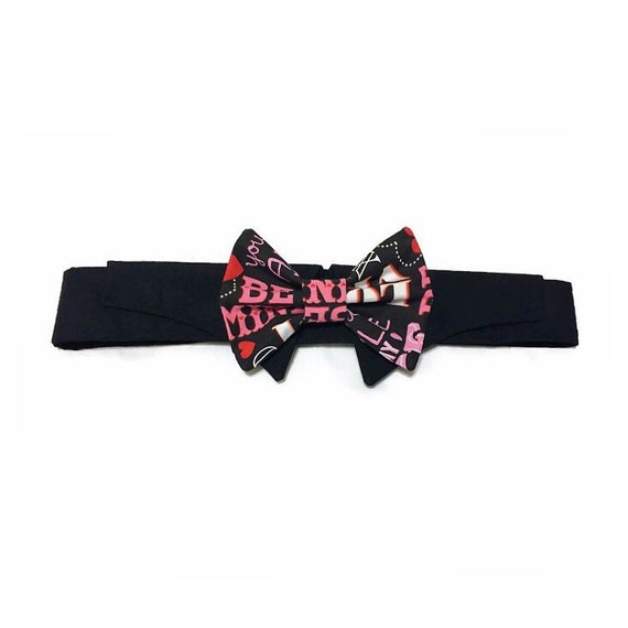 Valentine Shirt Collar Bow Tie Settwo Pattern Choices