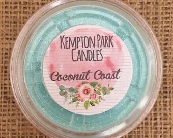 Coconut Coast Scented Soy Wax Melt Pot
