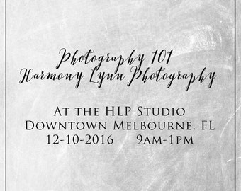 Photography 101 Class - Downtown Melbourne FL
