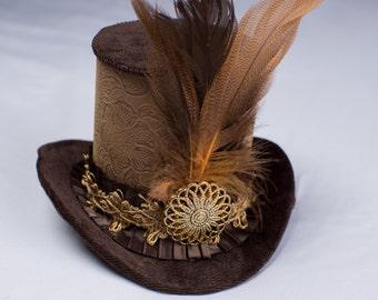 Brown Mini Hat