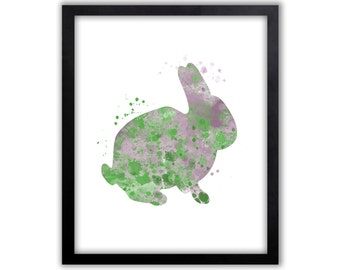 Rabbit Art, Rabbit Painting, Kids Wall Art, Rabbit, Limited Edition Art Print - WS1003P