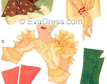 1933 Dressmaker Gloves EvaDress Pattern