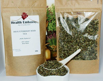 Drug Eyebright Herb Tea 100g ( Herba Euphrasiae ) Health Embassy 100% Natural