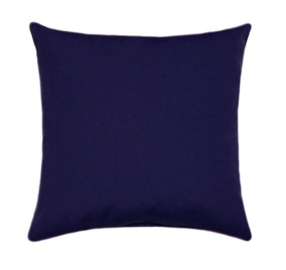 Sunbrella Navy Blue Indoor Outdoor Pillow by