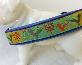 Dog Collar - padded with leather