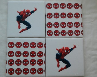 Spiderman Coasters ~ Set of 4 ~ Ready to Ship!