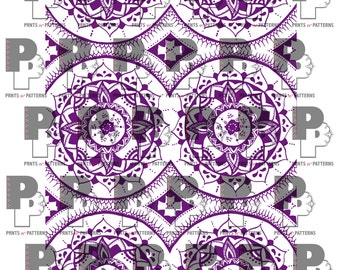 Purple Mandala Pattern