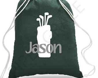 Golf Drawstring Bag, Golf Bag, Golf Gift Ideas, Golf Gift, Golf Backpack, Kids Golf Bag, Sports Bag, Sports Backpack