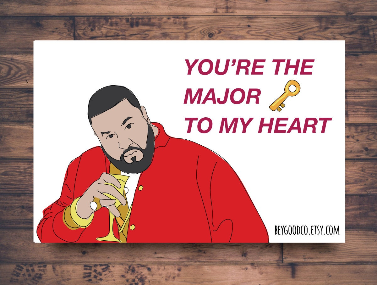 Printable Valentines Card Funny DJ Khaled Valentines Card – Funny Be My Valentine Cards