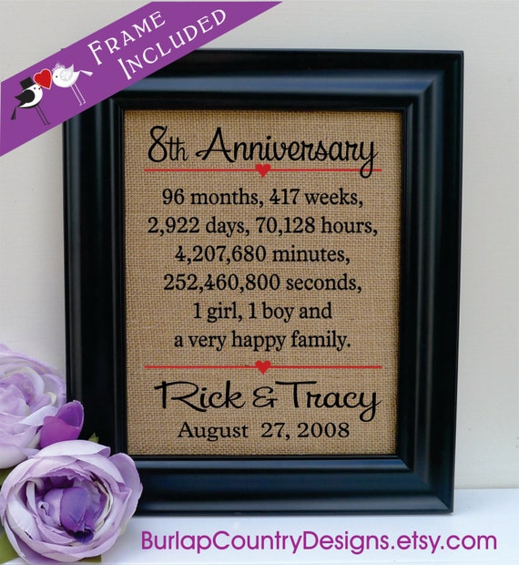 14th Year Wedding Anniversary Gift: 8th AnniversaryGift For Husband 8th Wedding Anniversary Gift