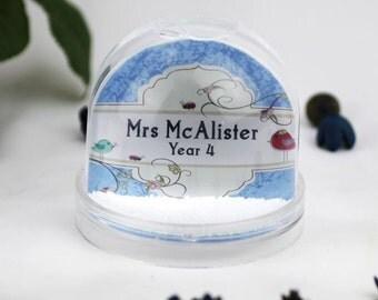 Teacher Appreciation Snow Dome