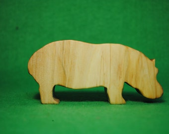 Wood hippo - Wooden Toy - Wooden hippo - hippo Toy - Wood Toy - Organic Toys - Toy Animals - Waldorf Toy - Wooden Animals
