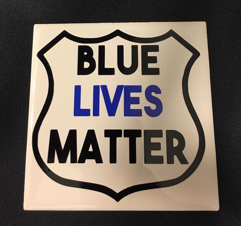 Blue Lives Matter Vinyl Decal