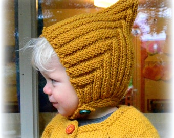 Hand knitted pixie hat 0-10 years many colors Fall Winter Spring photo prop merino alpaca wool Waldorf baby