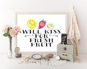 Fruit Kitchen Decor Etsy