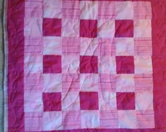 ALABAMA pink LOVIE blanket for your little one with minky backing