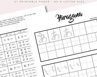 Hiragana Study Printables Pack