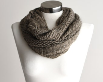 SCARF, Infinity Scarf, Brown Scarf, Brown Knit Scarf, Brown Neck Scarf, Neck Scarf, Knit Scarf, Fashion Scarf, Winter Scarf, Scarfs, Scarves