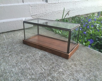 Diamond glass terrarium geometric terrarium geometric decor for Long rectangular candle tray