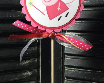 Peppa Pig Cake Topper-Centerpiece-Smash Cake Topper-Dessert Table-Photo Prop-Peppa Pig Birthday-Peppa Pig Baby Shower