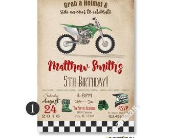 Motorcycle Birthday Invitations, Dirt Bike Invitation, Printable Motorcycle Birthday Invite, Biker Invitations, Kids Birthday, Any Age 428