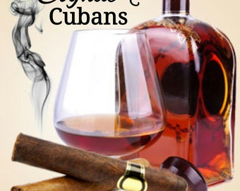 Cognac & Cuban Cigars Candle/Bath/Body Fragrance Oil ~ 1oz Bottle ~ Masculine Fragrance