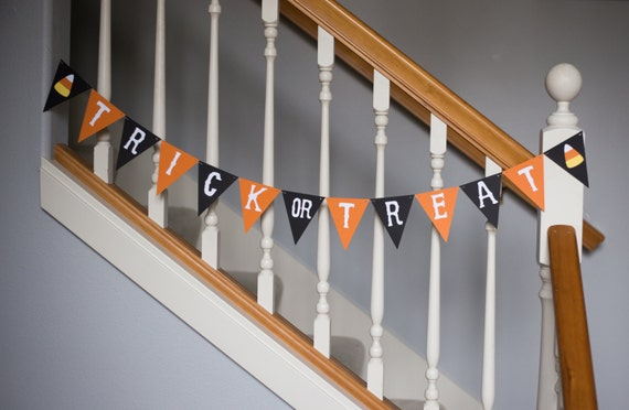 Trick or Treat Halloween banner, Halloween, candy corn