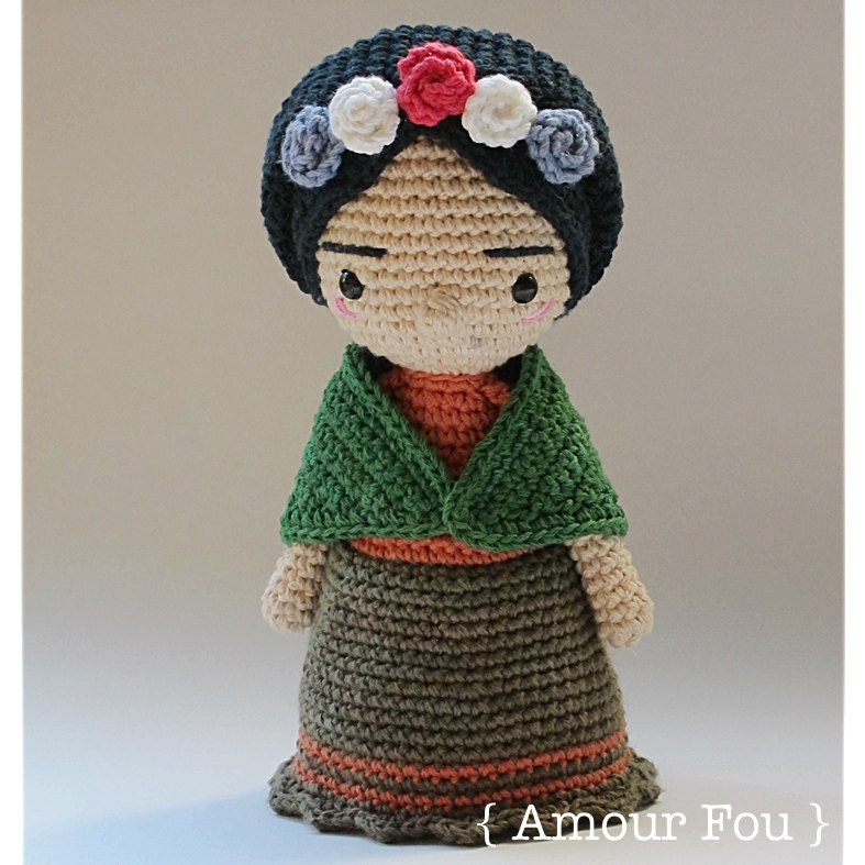 Amigurumi Monster Free Pattern : Mini Frida Crochet Pattern by Amour Fou