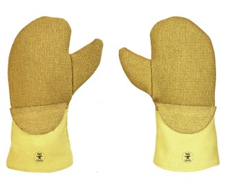 """14"""" PBI® Nomex® Wool Mittens w/ Flextra® Cuff Casting Melting Gold and Silver Safety Gear - SAF-0019"""